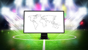 Television for sport Royalty Free Stock Photography