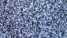 Television static noise black white full screen stock video