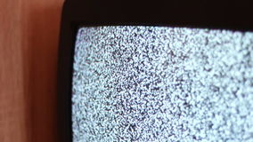 Television static noise black white stock video footage