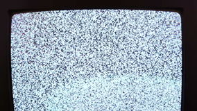 Television static noise black white stock footage