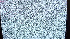Television static noise black white stock video