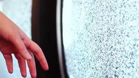Television static noise black white stock video
