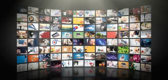 Free Television Streaming Video. Media TV On Demand Royalty Free Stock Photography - 132102307