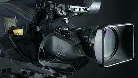 Television Studio Camera. Broadcasting professional camcoder. stock video