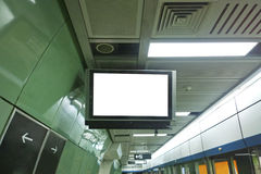 Television in subway Stock Photography