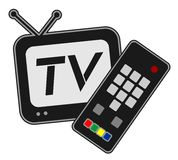 Television symbol Royalty Free Stock Image