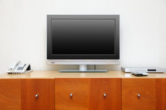 The television on table Stock Photography