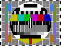 Television Test Card Stock Photo