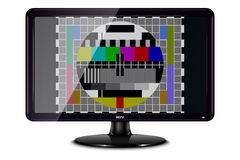 Television with Test Card Stock Images