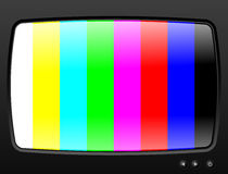 Television with test image Stock Photo