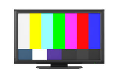 Television with Test Pattern Stock Photography