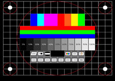 Television test screen Stock Photo