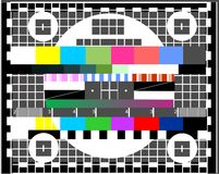 Television test screen. Vector illustration Stock Images