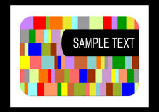 Television test screen Royalty Free Stock Photography
