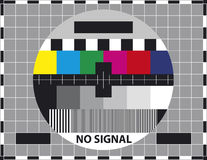 Television test screen Royalty Free Stock Photos