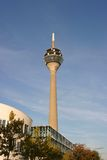 Television tower. Of Dusseldorf Germany in bright sunlight royalty free stock photos