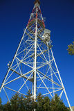 Television tower. On a sky background royalty free stock photo