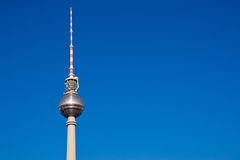 Television tower on Alexanderplatz Stock Photo