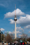 The television tower of Berlin Royalty Free Stock Images