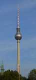 Television tower. Berlin television tower on background sky Stock Photo