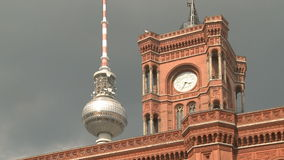 Television Tower Berlin stock video footage