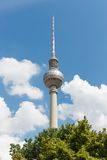 Television tower Berlin at a bright summer day Stock Photos