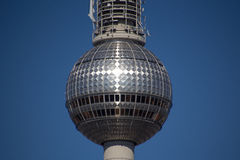 Television tower berlin closeup Stock Images