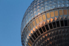 Television tower berlin closeup Royalty Free Stock Photo