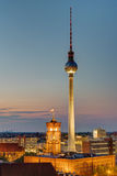 The Television tower in Berlin Stock Photos