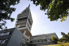 Television tower in Bratislava Royalty Free Stock Photography