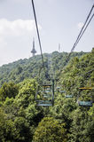 Television tower and cableway Stock Image