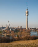 The television tower of Munich in Bavaria Royalty Free Stock Photos