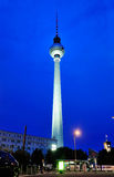 Television Tower by Night Royalty Free Stock Photos