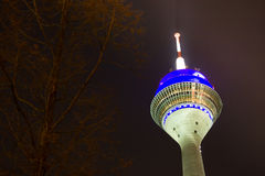 Television tower at night Stock Images