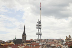 Television tower of Prague Stock Photos
