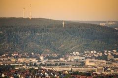 Television Tower of Stuttgart Stock Photos