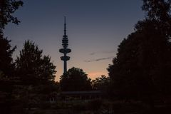 Television Tower during Sunset in Hamburg, Germany Royalty Free Stock Photo