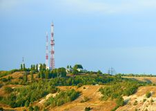 Television tower on top of a hill. Saratov. Stock Photography