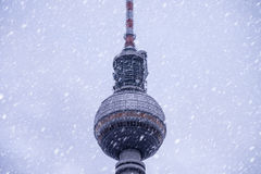 Television tower winter Stock Images