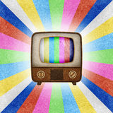 Television ( TV ) icon recycled paper Stock Photography