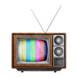 Television ( TV ) icon recycled paper craft. Stock Images