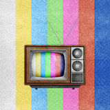 Television ( TV ) icon recycled paper craft. Royalty Free Stock Images