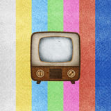 Television ( TV ) icon recycled paper craft. Royalty Free Stock Photo
