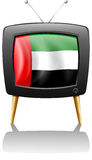 A television with the UAE flag Royalty Free Stock Photography