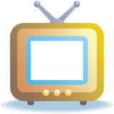 Television - vector icon Royalty Free Stock Photos