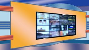 Television Virtual Set Background for Newsroom stock video footage