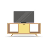 Television Wooden Cabinet.Home Furniture Stock Photos