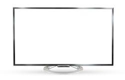 Televisionbildskärm som isoleras på vit bakgrund Arkivbilder