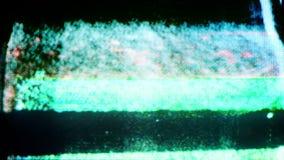 Televisiondistorsion och statisk elektricitet lager videofilmer
