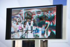 televisione 3D Fotografie Stock Libere da Diritti